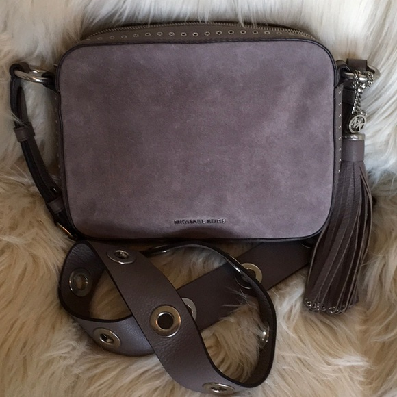 cf5ef88a355b MICHAEL KORS Brooklyn Cinder LG Camera Bag Leather